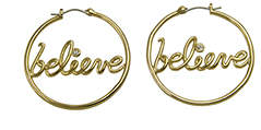 Disney Gold Believe Earrings