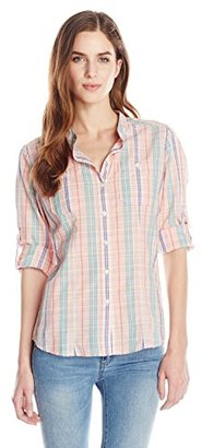 Dockers Women's Convertible Cargo Shirt $35 thestylecure.com