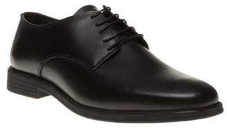Farah New Mens Classic Black Tadley Leather Shoes Lace Up