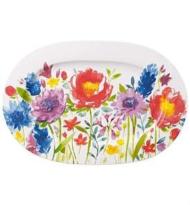 Villeroy & Boch Anmut Flowers Oval Platter 34Cm (3)