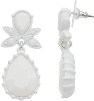 Simply Vera Vera Wang White Teardrop Earrings