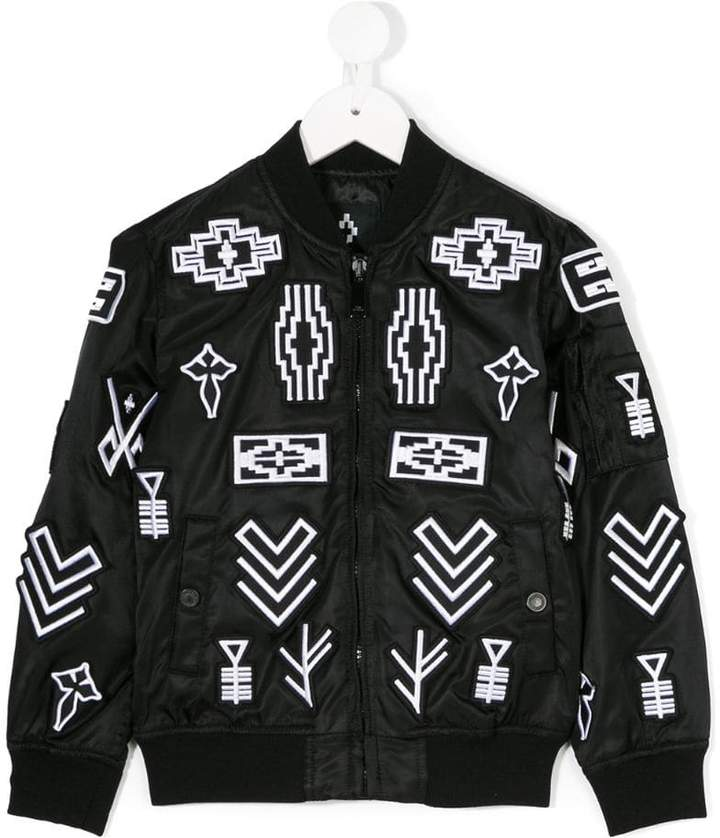 Marcelo Burlon County Of Milan Kids logo patch bomber jacket