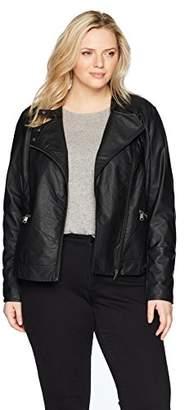 Junarose Women's Plus Size Short Pu Jacket