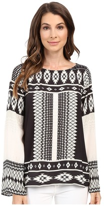 Hale Bob The Bohemian Beat Long Sleeve Top $216 thestylecure.com