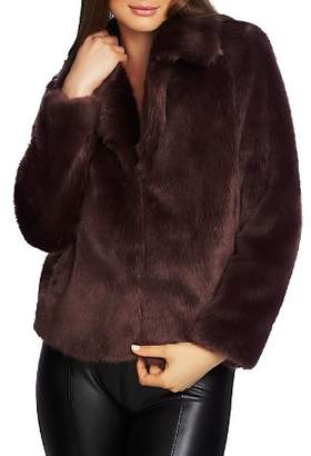 1 STATE 1.STATE Faux Fur Cropped Jacket