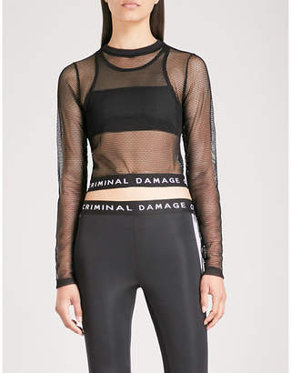 Criminal Damage Lavina mesh crop top