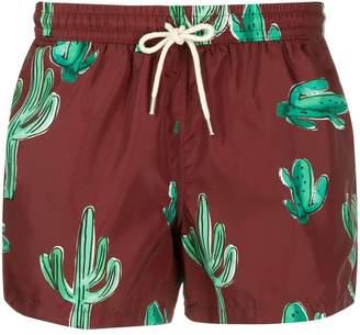 Nos Beachwear cactus print swim shorts