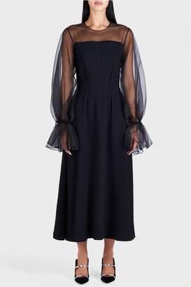 Rejina Pyo Lois See-Through Sleeve Dress