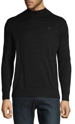 G Star Cotton Long-Sleeve Turtleneck