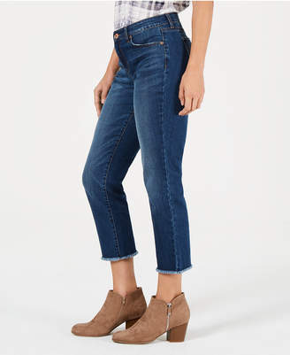 Style&Co. Style & Co High-Rise Cropped Curvy-Fit Straight-Leg Jeans