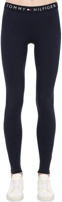 Tommy Hilfiger Logo Band Stretch Cotton Leggings