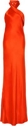Pandora Galvan Silk Halter Dress