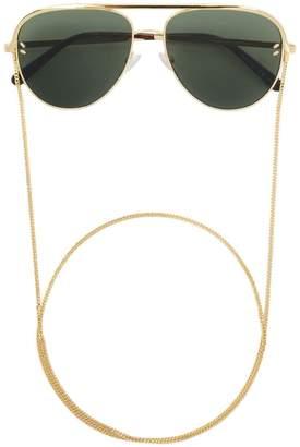 Stella McCartney Eyewear aviator sunglasses with chain