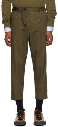 Oamc Tan Cropped Regs Trousers