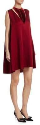 Valentino Hammered Satin Velvet Dress