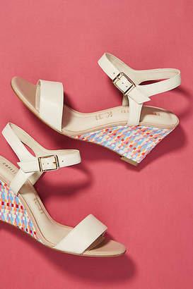 Capelli Rossi Woven Raffia Wedge Sandals