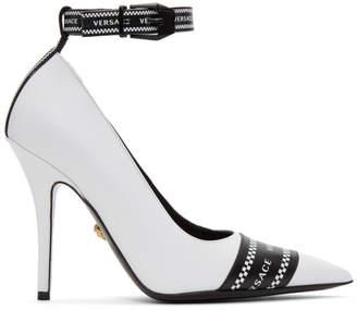 Versace White Vintage Logo Heels