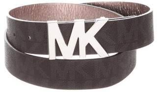 MICHAEL Michael Kors Leather Logo Belt