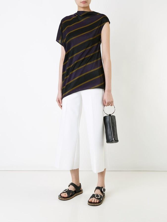 08sircus striped asymmetric blouse