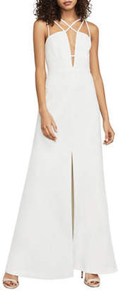 BCBGMAXAZRIA Padma Crisscross Evening Gown