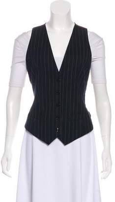 Dolce & Gabbana Printed Button-Up Vest