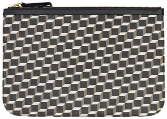 Pierre Hardy Black and White Large Cube Pouch