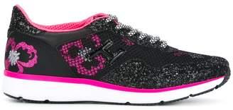 Hogan floral glitter-effect sneakers