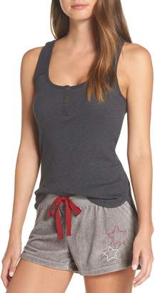 PJ Salvage Henley Pajama Tank Top