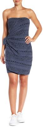 Free People Oceanside Crochet Strapless Minidress