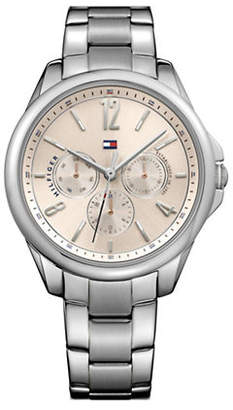 Tommy Hilfiger Stainless Steel Chronograph Multifunction Link Bracelet Watch