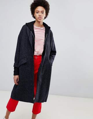 Parka London Lola Midi Wool Blend Duster Coat