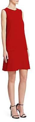 Oscar de la Renta Women's Sleeveless Wool Shift Dress
