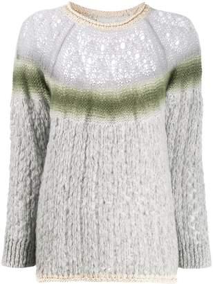 Forte Forte contrast stripe knit jumper