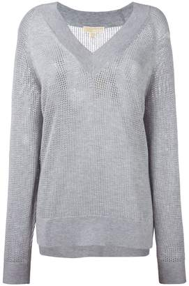 MICHAEL Michael Kors perforated detail sweatshirt