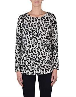 Jump Long Sleeve Animal Print Pullover