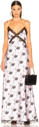 Brock Collection Lace and Floral Dress in Light Pastel Pink | FWRD