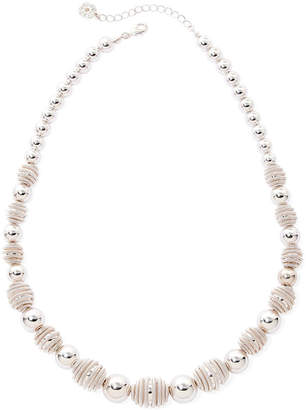 JCPenney MONET JEWELRY Monet Silver-Tone Textured Bead Necklace