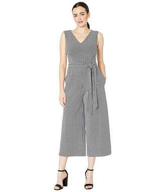Calvin Klein Gingham Cropped Jumpsuit