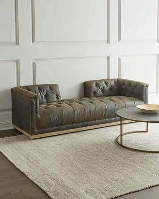 Brixton Tufted Leather Chaise