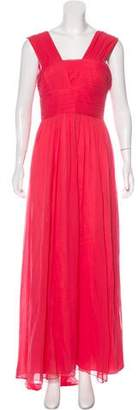 Robert Rodriguez Silk Pleated Dress