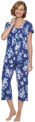 Croft & Barrow Women's Short Sleeve Capri Pajama Set