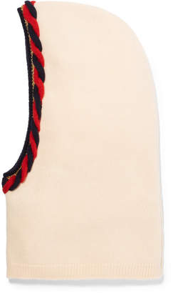 Gucci Braided Wool And Cashmere-blend Snood - Ivory