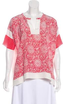 Rebecca Taylor Silk Short Sleeve Top