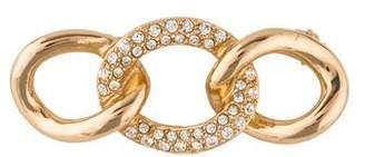 Christian Dior Crystal Curb Link Brooch