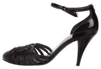 Chanel Satin Ankle Strap Pumps