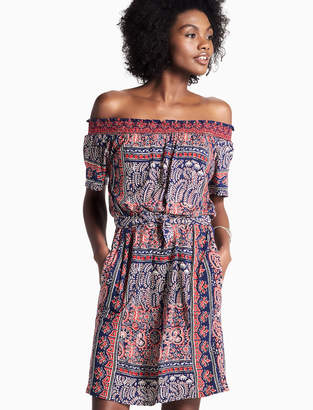 Lucky Brand OFF SHOULDER KNIT DRESS