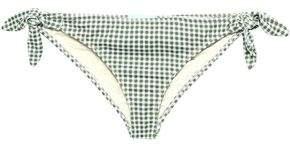 Eberjey Ursula Knotted Gingham Low-rise Bikini Briefs