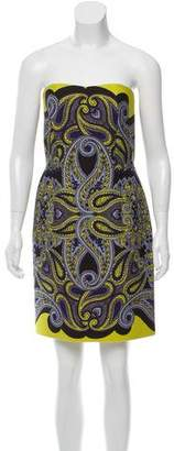 Lanvin Strapless Paisley Print Dress w/ Tags