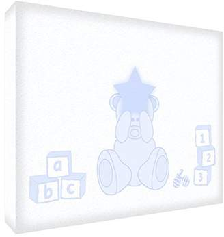 "Keepsake Feel Good Art Block – Decorative Baby's, Design Adorable Bear"" Medio - 10.5 x 15 x 2 cm beige"