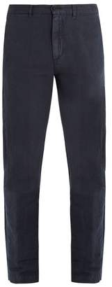 Massimo Alba Straight-leg linen and cotton-blend trousers